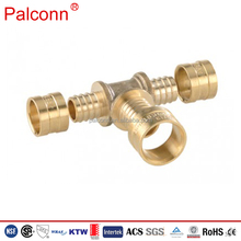 High Quality Rehau Type Copper DR Brass Ring Sliding Fittings For Pex Pipe
