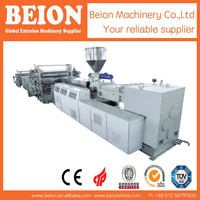 BEION NEW TECHNOLOGY PLASTIC PVC TRANSPARANT SHEET EXTRUSION PRODUCTION LINE, EXTRUDERING MACHINE