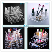 Hot Sell Low Price acrylic makeup storage cases with drawer