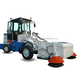 4WD Compact Pavement Sweeper Pavement cleaning machine