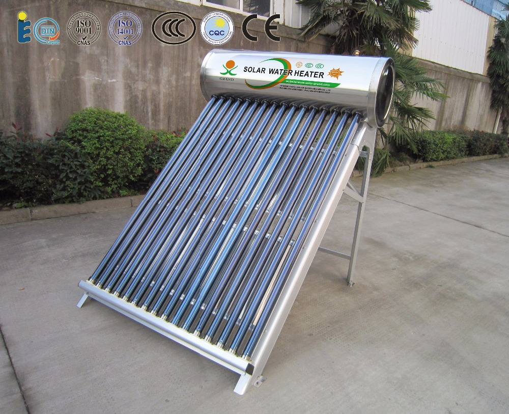 6 years guarantee non-pressurized solar water heater system