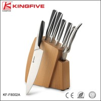 KINGFIVE OEM patent ABS knife set with wooden block
