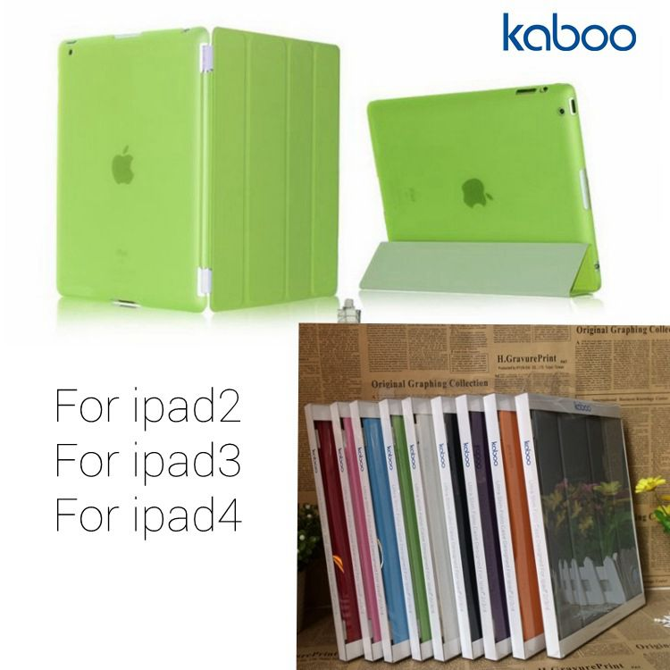Kaboo For ipad smart cover + back case For ipad4 case ipad3case ORE-IPD001