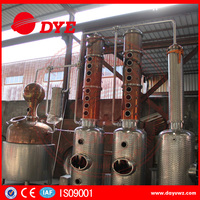 3000L red copper industrial steam alcohol distillation column