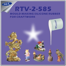 RTV-2-585 rtv 585 silicone rubber curing at room temperature condensation RTV-2 molding silicone rubber for craftwork mould