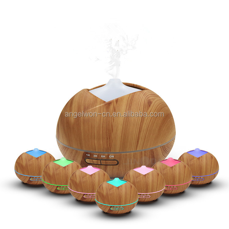 400ml new wood grain electric aroma diffuser essential oil humidifier home fragrance mist fogger with 7c led light
