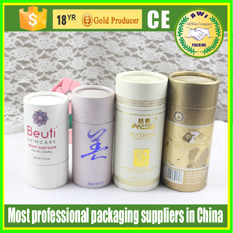 round kraft glass bottle vials packing paper tube with label printing paper tube for 30ml glass dropper bottles use