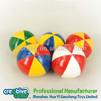 2014 new design Plastic Beans Filled Toss juggling balls