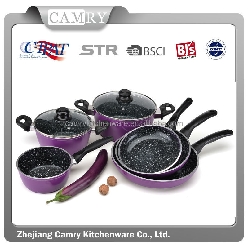 New design 9pcs aluminum Forged german cookware sets