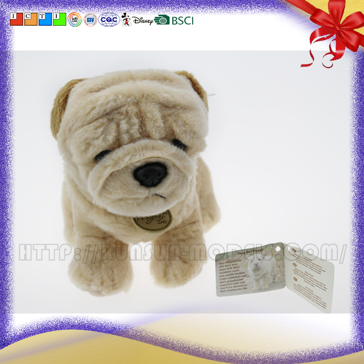 baby warm dolls lovely shar pei puppy plush stuffed toys