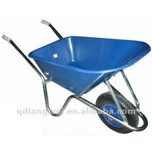5 CU.FT garden galvanised chassis Polypropylene tray wheelbarrow