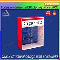 Counter Lockable clear acrylic cigarette display