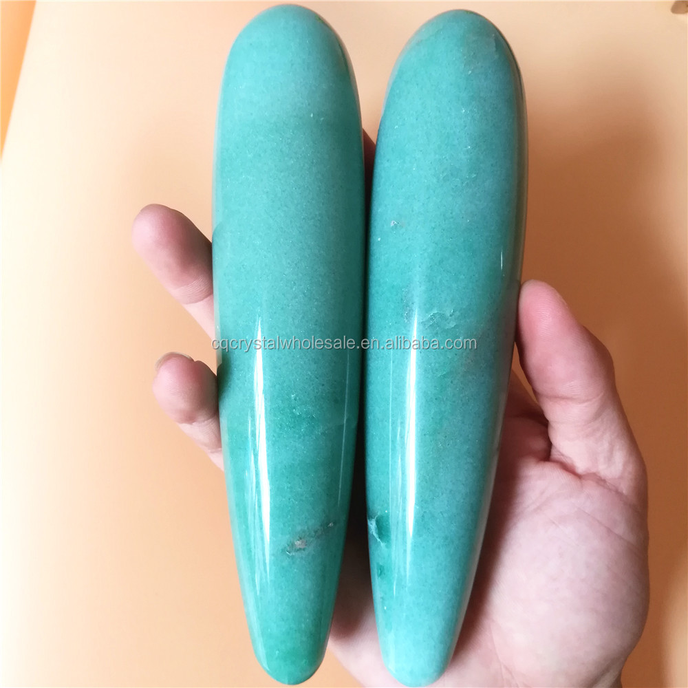 Natural quartz crystal massage wand penis massager,crystal artificial penis vaginal exercise for Female