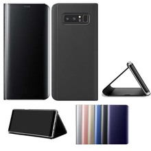 for samsung galaxy note 8 case stand smart view mirror leather flip cover