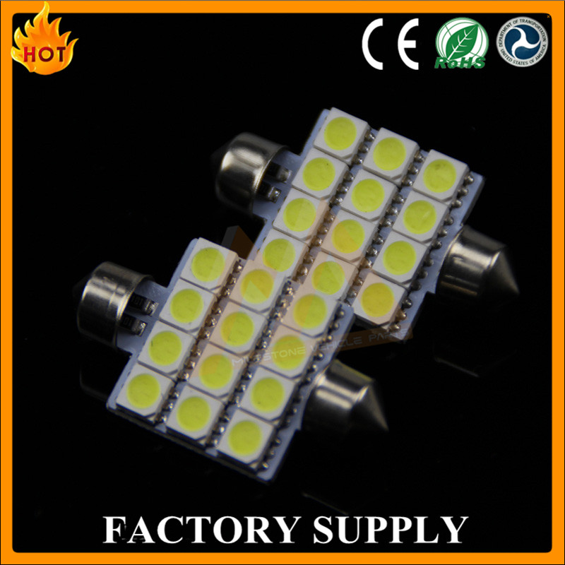 Car LED Ceiling Light 5050 12SMD Festoon 42mm 39mm LED Festoon Bulbs Lamps for Car Dome Light Instrument Light
