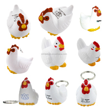2017 Super September Imprint Custom Logo PU Stress Chicken Promotion