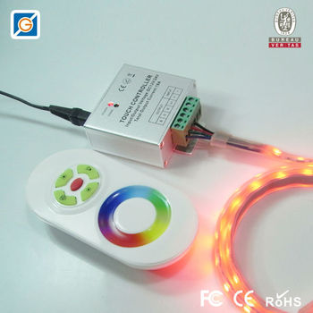 12-24V RF Remote Rainbow Touch LED Controller with CE&RoHS certificate(Aluminum)