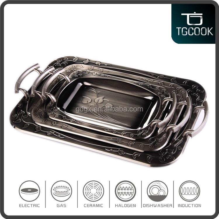 Stainless Steel silver plated serving trays
