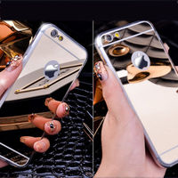 mirror soft tpu gel case for iphone 6/6s ,crystal mirror phone case