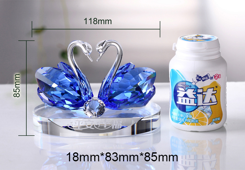 High quality Colorful Crystal Craft Bottle Swans Car Perfume Bottle For Decoration