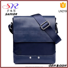 China Supply Soft PU Briefcase Custom Embossed Logo Sling Bag Man Leather Messenger Bag for Office