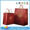 High quality food paper bag, food grade paper kraft bag, flat handle kraft paper bag