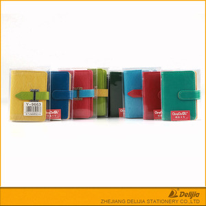 Wholesale hot selling pu leather material office business card holder