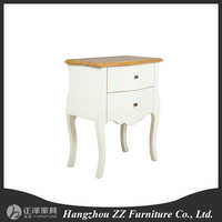 Antique style classical three drawer bedside table/ End table /bedroom night stand