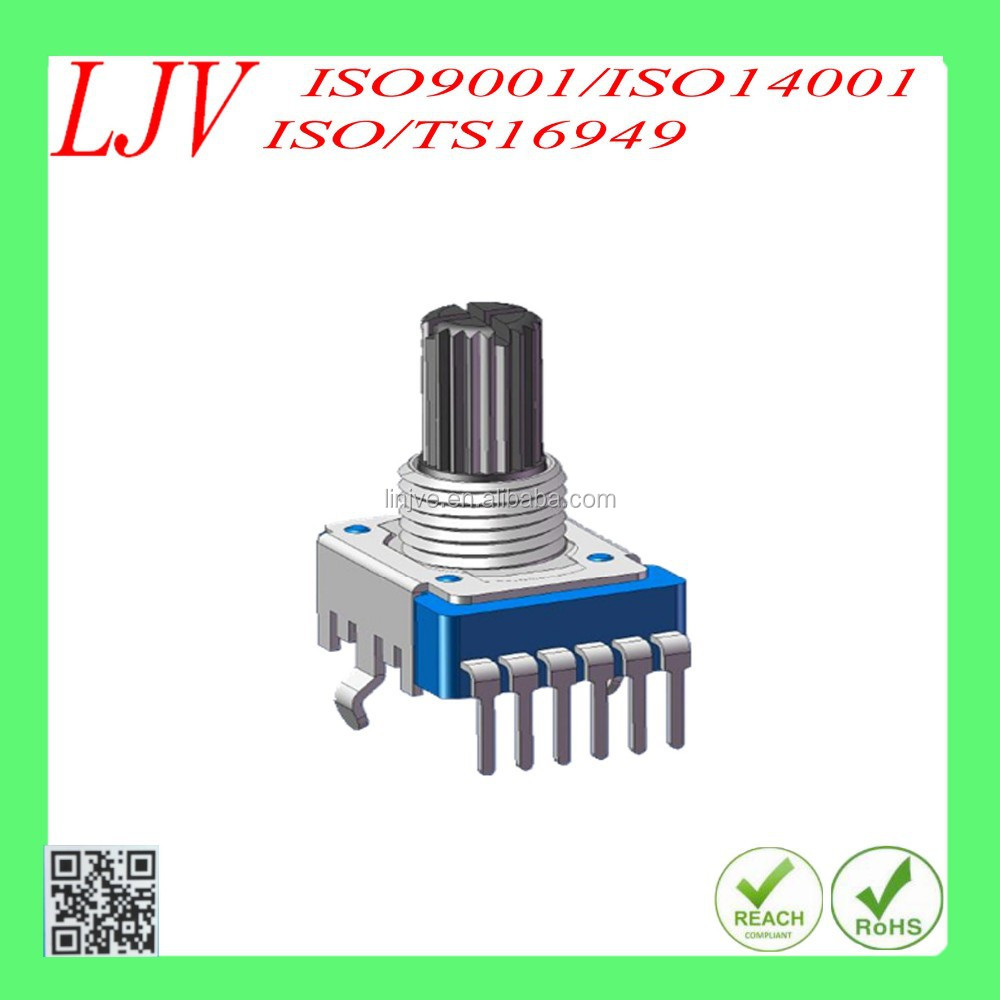 11mm insulated concentric shaft rotary potentiometer