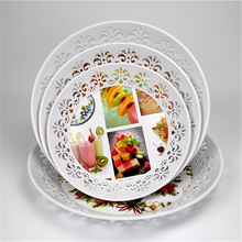 Factory food serving trays plastic plates for weddings