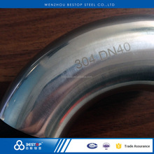 Stainless steel food grade 304l / 316l welding elbow pipe fitting