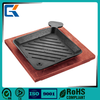 Outdoor Smoker Grilling Cooking BBQ Basalt Steak Lava Stone Plate