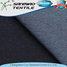 Indigo knit twill spandex poly cotton fabric for garments WHTP-3141