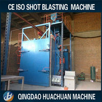 abrator buffing Q37 continuous hanging chain shot blasting machine/wheel shot blasting machinery