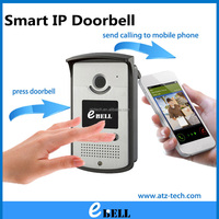 ATZ IP Video Door Bell with Wireless Camera Waterproof IP65 Night Vision IR 3m Free Android & iOS APP E-Bell