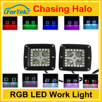 High quality RGB led work light 12W pod color changing work led light