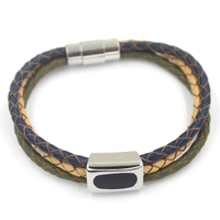 Mens Leather Bracelet with Magnetic Clasp ,European Jewelry Popular Bracelet