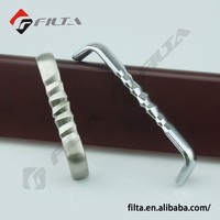 2710 Modern flush pull handle for cabinet and furniture usage chrome plating