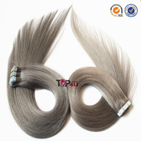 Hot sale top quality full cuticle Brazilian virgin hair extension human hair grey