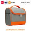 Man Woman Waterproof Double Zipper Cosmetic Bag Beauty Case Wash Bag With Wall Hook(Gray,Orange)