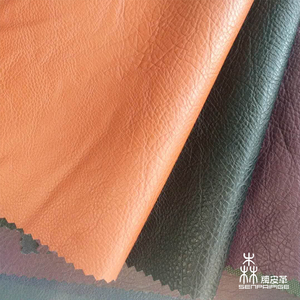 Chinese supplier fashional PU bonded faux leather embossed fabrics