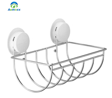 stainless steel wall mounted hanging wire toilet paper roll holder for storage