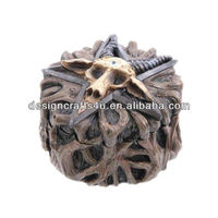 skull shaped ceramic trinket box