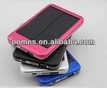 Universal 5600mah emergency solar panel power bank charger for smartphone tablet pc Laptop