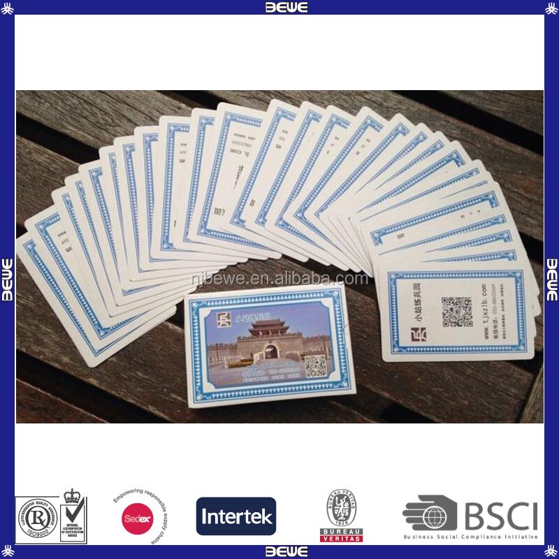 Made In China Bulk Production Promotional Playing Cards