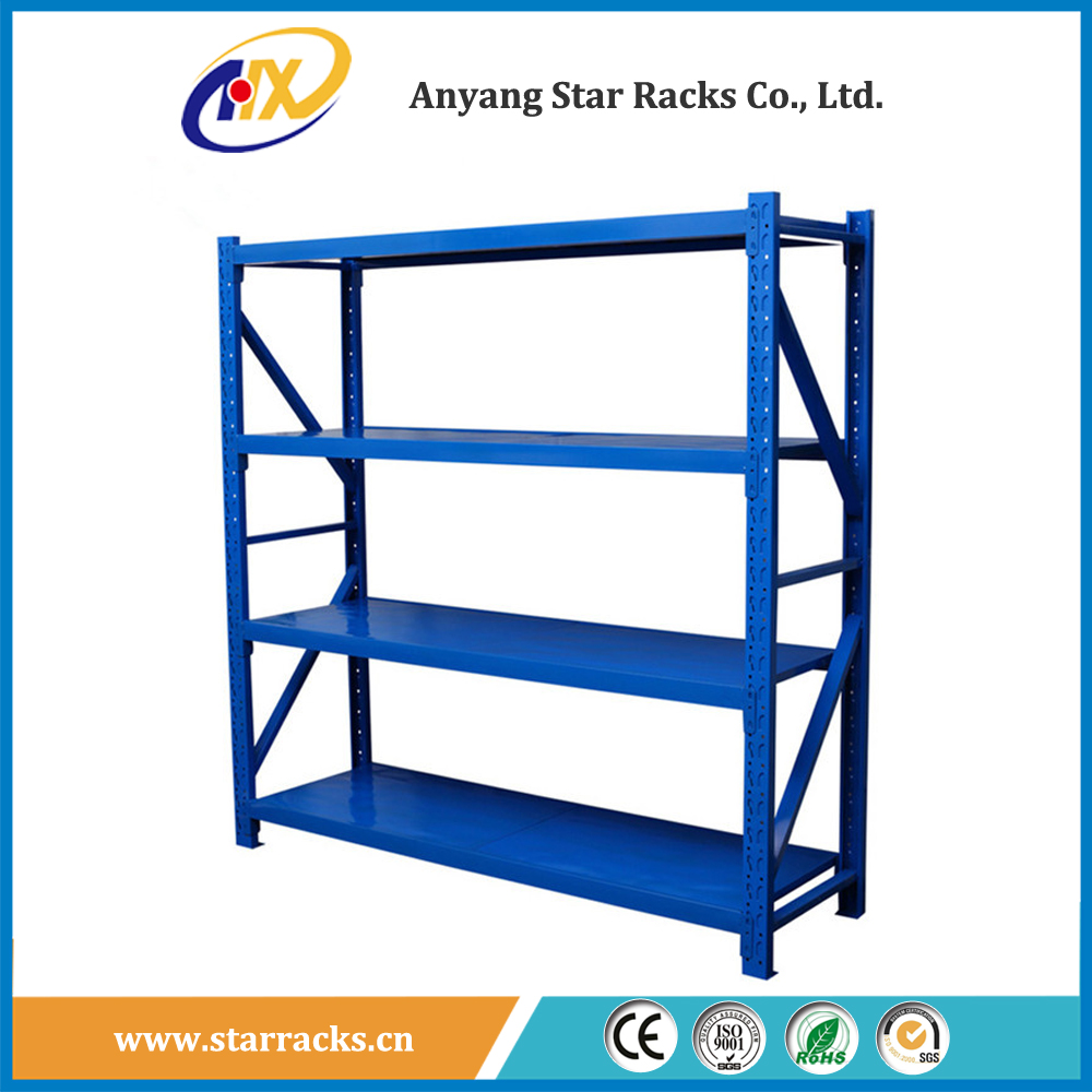 Medium Duty Industrial Warehouse Steel Plate Metal Storage Rack