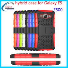 Trie rugged hybrid shockproof kickstand mobile phone case for Samsung Galaxy E5 E500