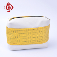 Fashion lady handbag custom leather contents cosmetic bag