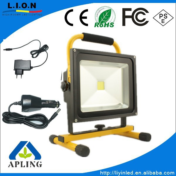 out door working Aluminum Battery cover 30w emergency work/flood light ,Y/G/B/Blue/R shell available camping light,supper bright