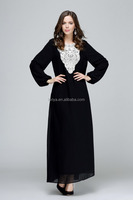 Dubai Abaya 2016 new arrival for women evening chiffon abaya lady dress